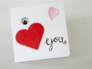 """""""I love you"""" - Grusskarte mit Monster"""